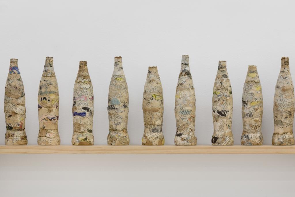 Coca-Cola del Olvido 2016 Compressed paper, ink, wood (Detalle)