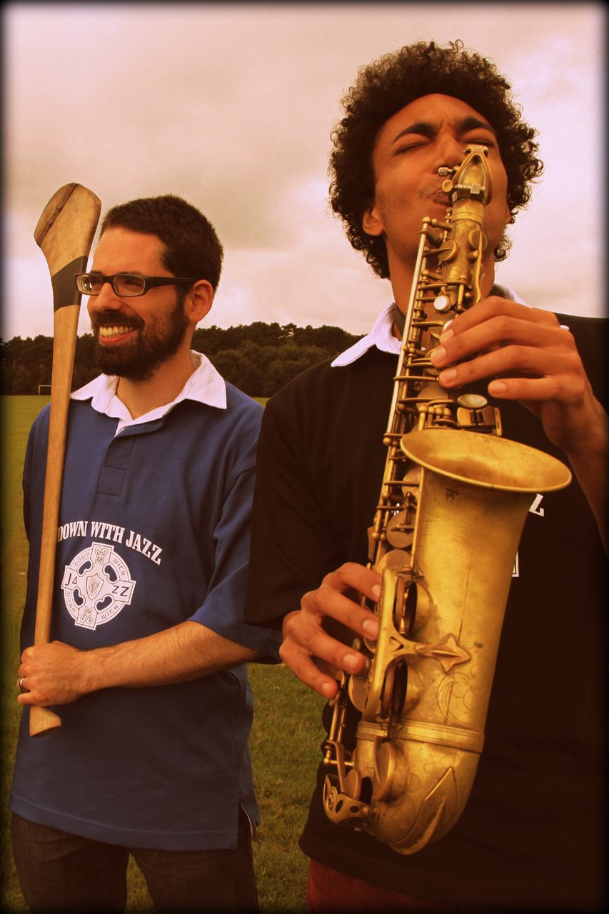L-R Daniel Jacobson (aka ZoiD) and Chris Engel will perform at Down With Jazz festival this weekend 6-8th Sept in Meeting House Sq, Temple Bar - clashing with the GAA hurling final in more ways than one..jpg
