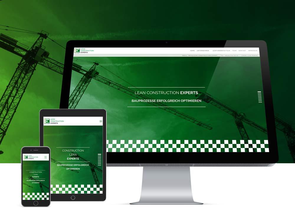 Lean Construction Experts GmbH | Prozessmanagement Branding, Corporate, Druck, Web