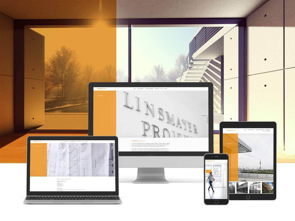 <strong>Linsmayer Projekte GmbH | Ingenieurbüro</strong>Internetauftritt