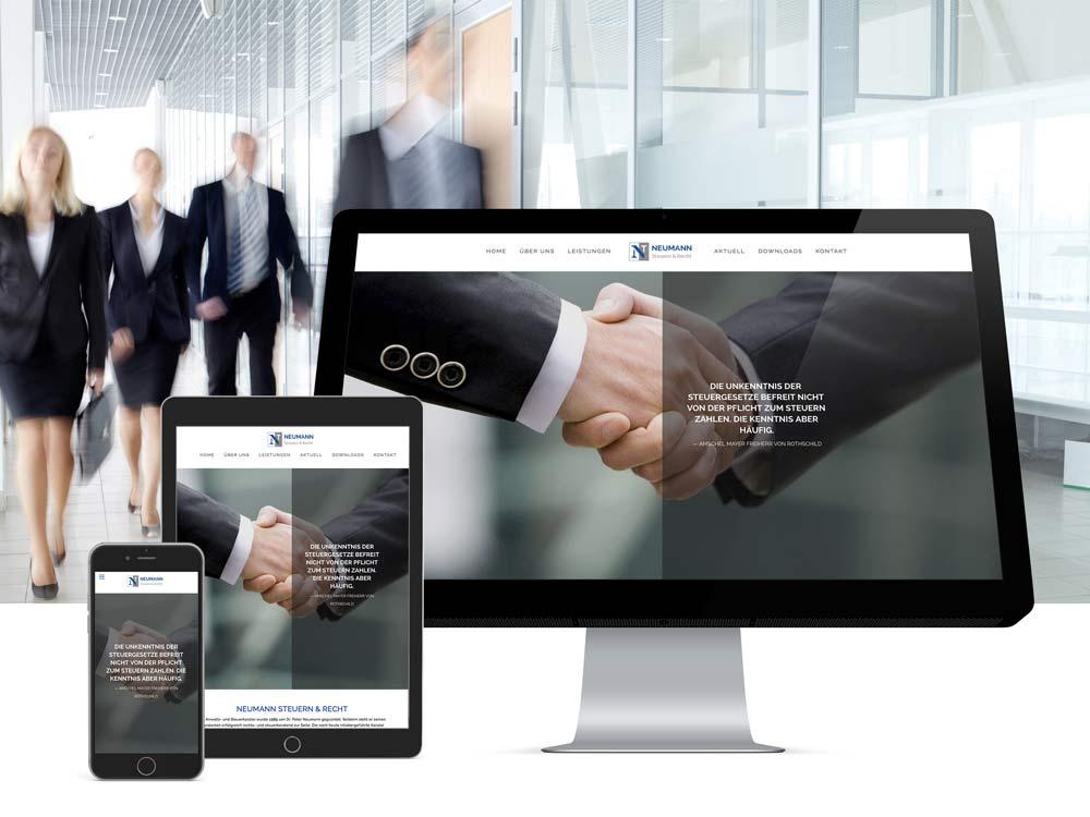 <strong>Neumann Rechtsanwaltsgesellschaft mbH | Steuern & Recht</strong>Branding, Corporate, Druck,  Internetauftritt