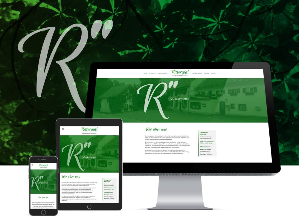 <strong>Rittergütl | Restaurant</strong>Branding, Corporate, Drucksachen, Internetauftritt
