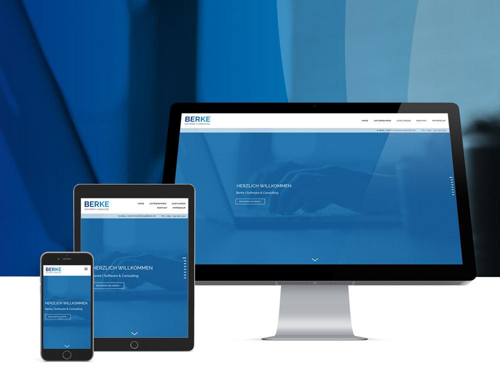 <strong>Berke GmbH | Software & IT</strong>Branding, Corporate, Internetauftritt
