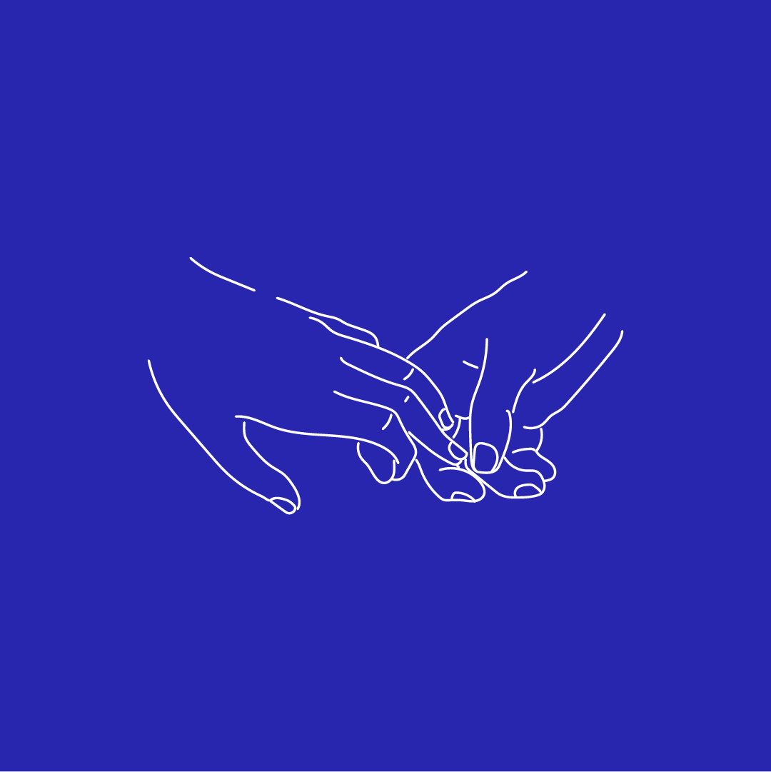 The London Celebrant_Illustration_Clasped Hands 02_Artwork_RGB_1080X1080pixels_Blue_White.png