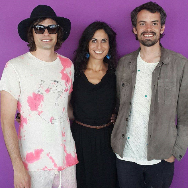 Tracy with US-based design duo The Haas Brothers during GUILD international design fair.
