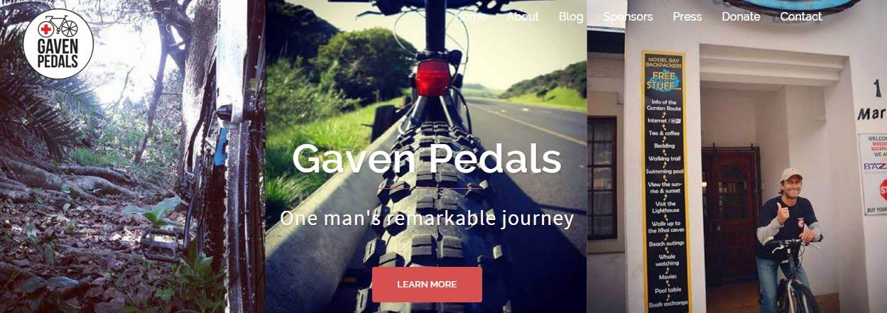 Support Gaven as he pedals from Cape to Cairo for the Red Cross.