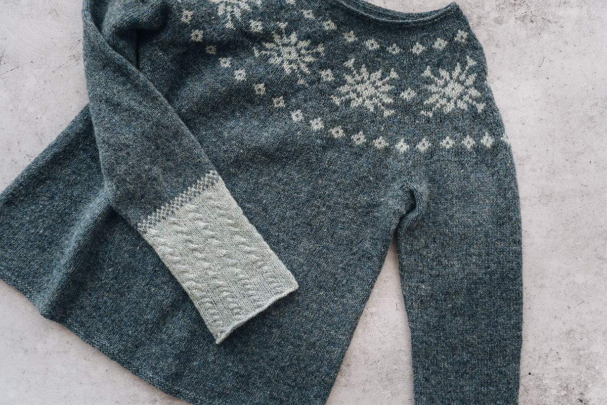 summer in Norway knitting sweater