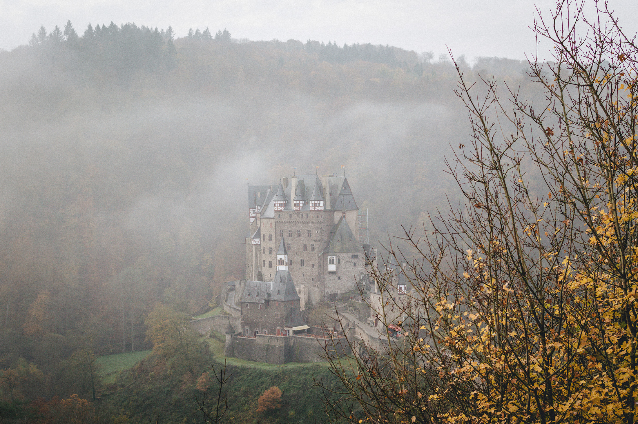 Eltz burg germany autumn fog.jpg