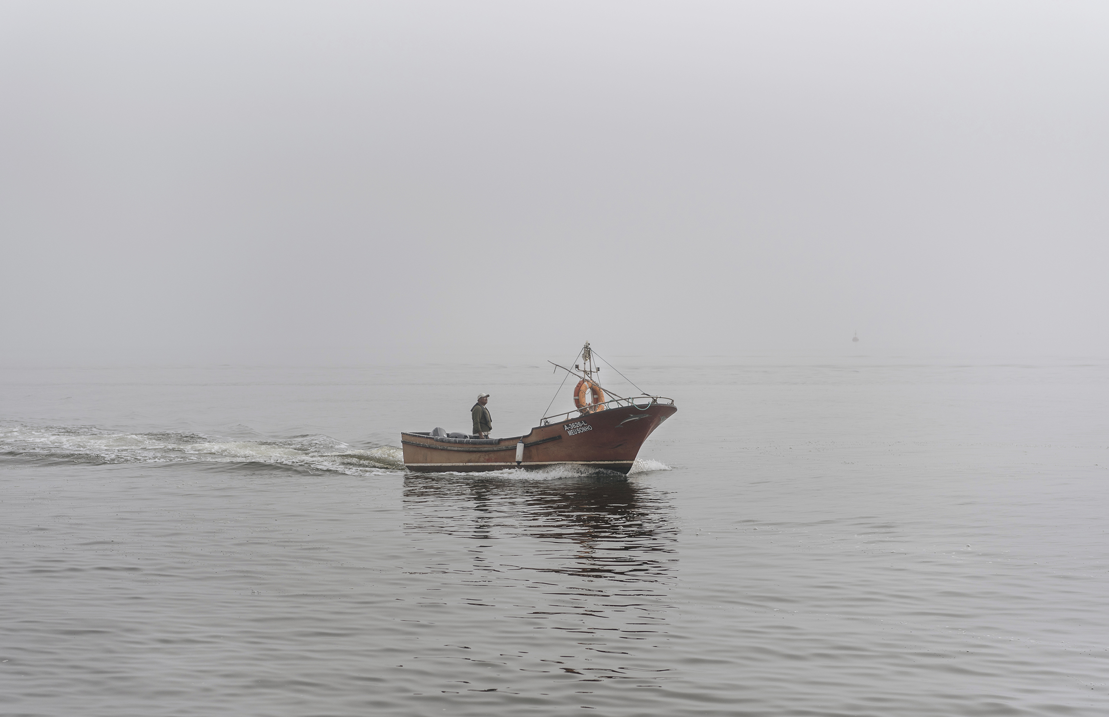 fog boat Ria Aveiro Costa Nova Portugal
