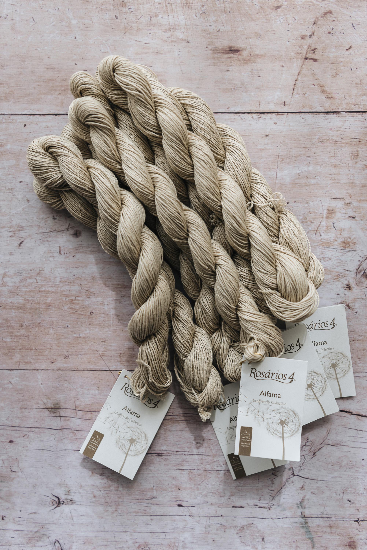 linen Rosarios 4 Alfama yarn knitting summer