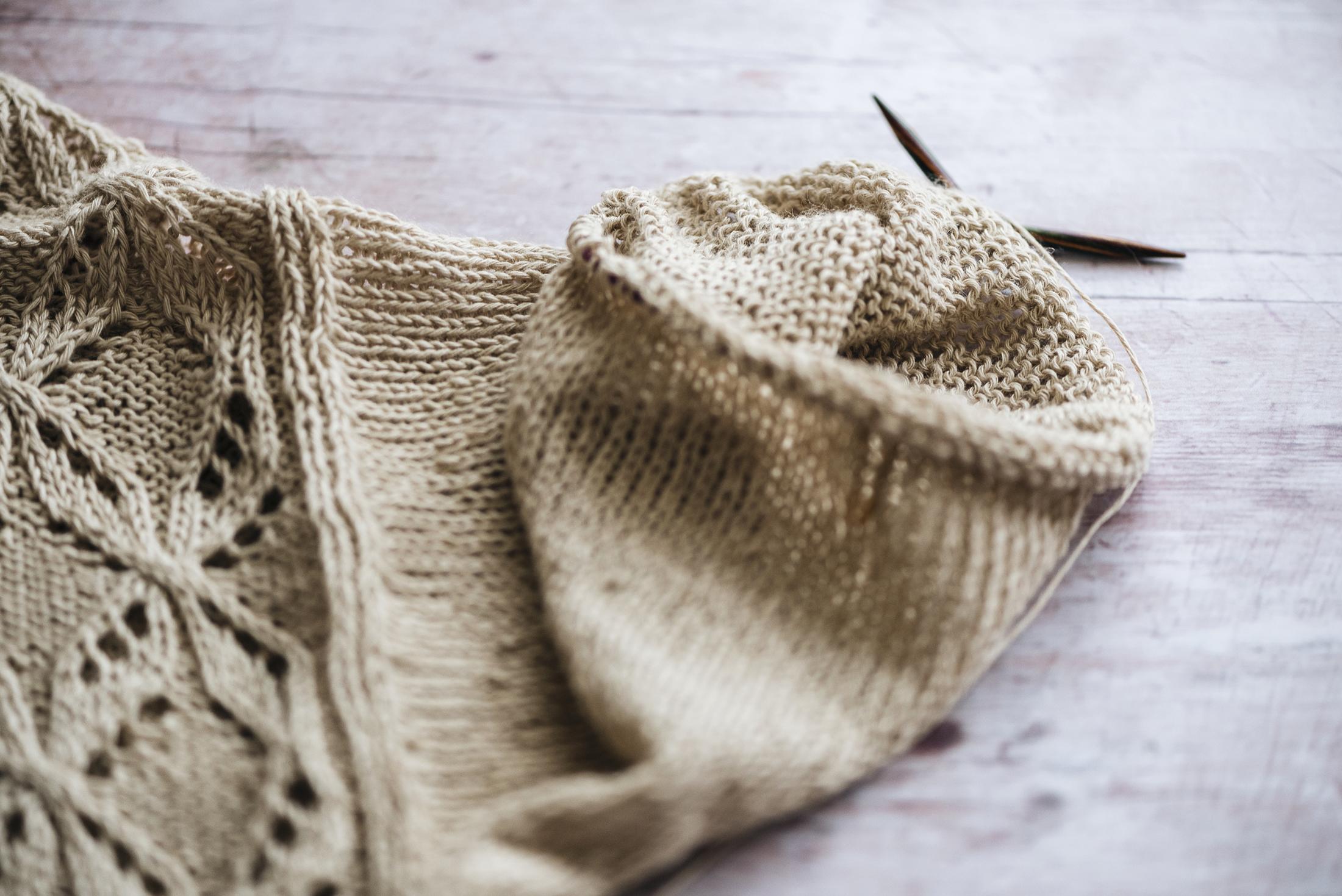 wip sleeve linen summer yarn cardigan knitting amirisu