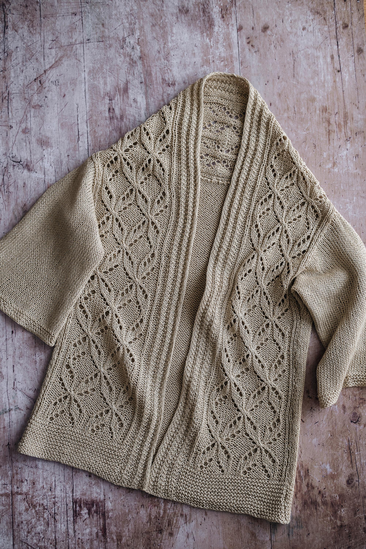 FO Bird cardigan by Amirisu knitting linen Rosarios 4 Summer knitwear