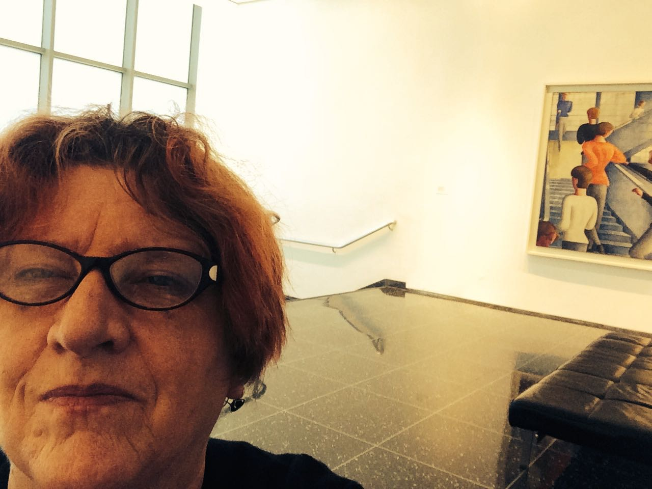 Selfie, MOMA, Bauhaus Staircase