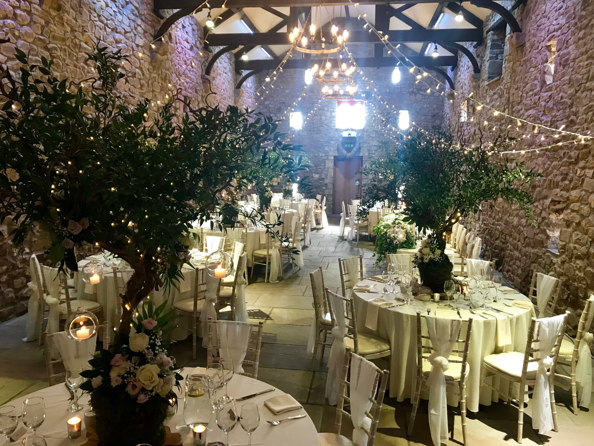 Browsholme Hall with flowers by Flower Design