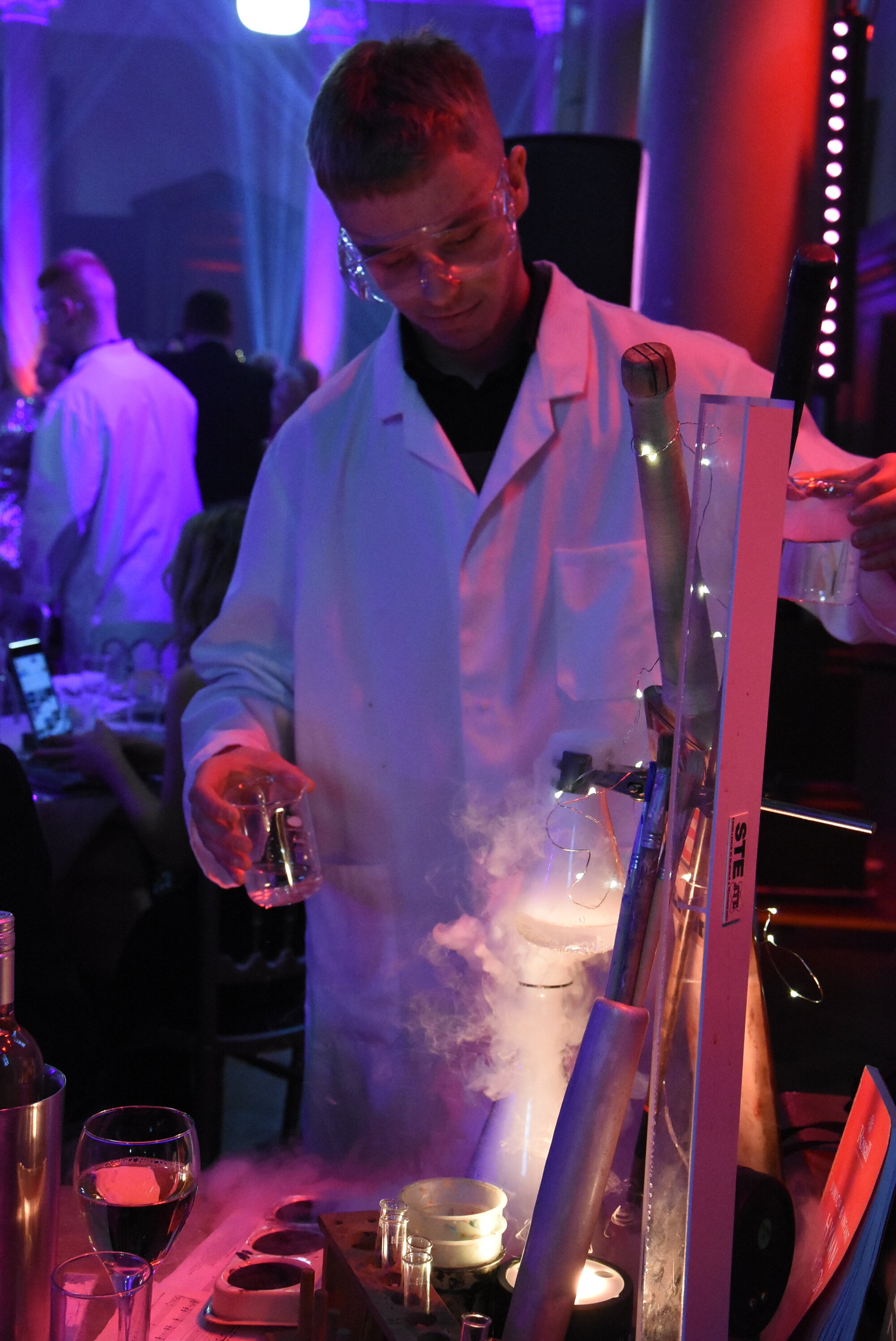 Dry ice scientific experiment was a spectacular way to begin the evening…keeping things in theme with the academic school surroundings!