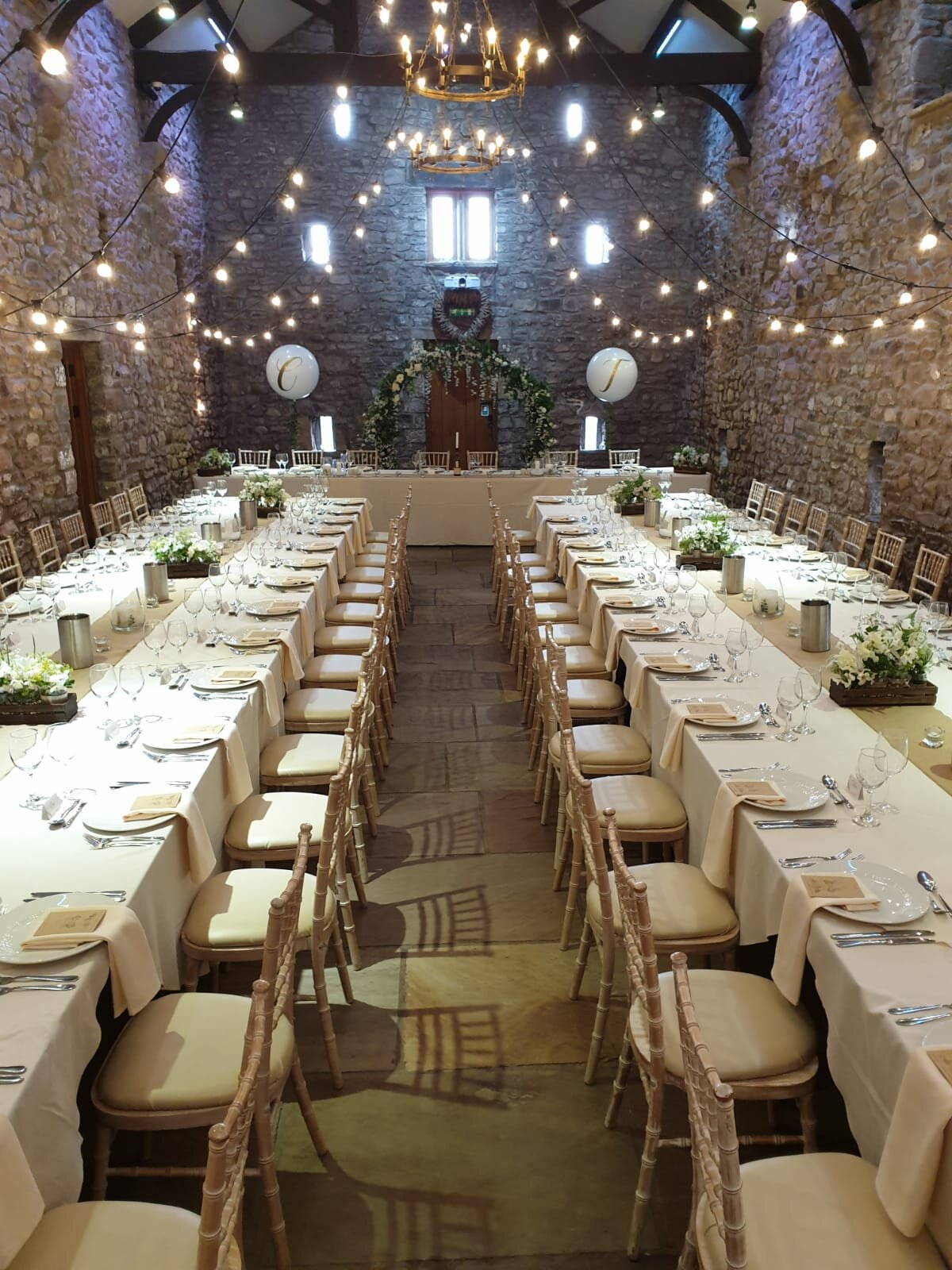 We LOVE the long table layout at Browsholme Hall…works perfectly with the rustic feel of the venue! We delivered a wedding breakfast that involved grazing sharing platters to keep with the relaxed theme.