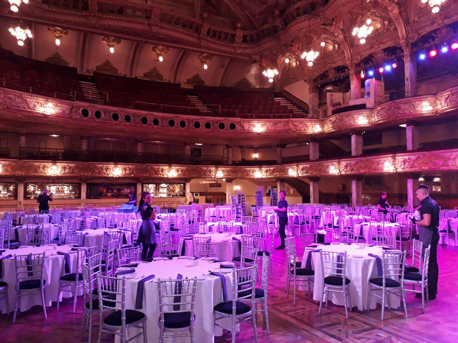 1 event at the Blackpool Tower down and now the Trinity Hospice Ball to reset for the following day…TEAMWORK MAKES THE DREAM WORK!