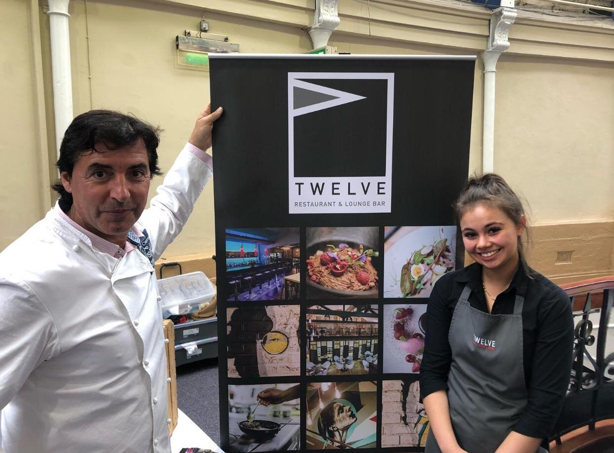 Amber and Chef; Jean- Christophe- Novelli at the FAM Festival