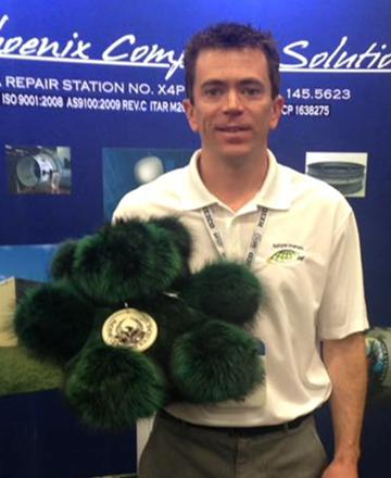 Congratulations to Scott Collins of Future Metals the winner ofPhoenix, our custom raccoon fur teddy bear from AuSable Fur Products.
