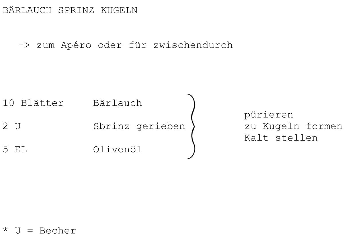 Bärlauch, Sprinz, Olivenöl