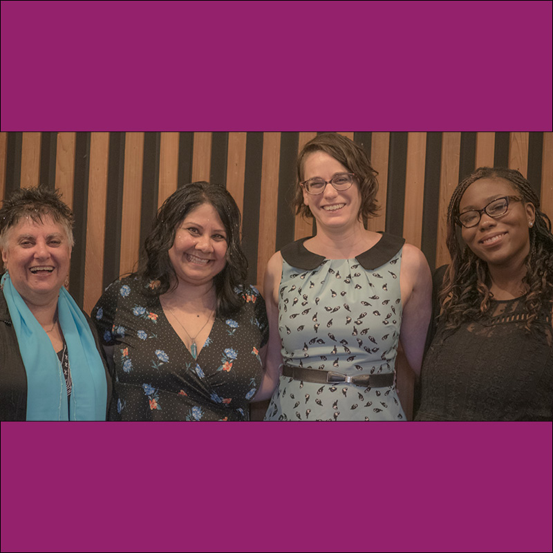 L to R: Honey Novick, Puja Malani, Kathy Friedman, and Maya Ameyaw