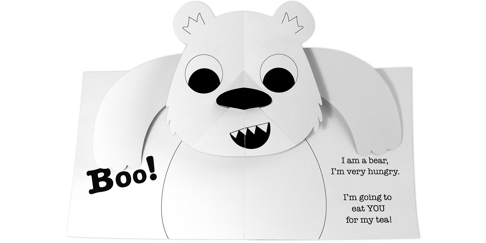 Pop-up bear book - Jo Garden design, paper engineering and illustration