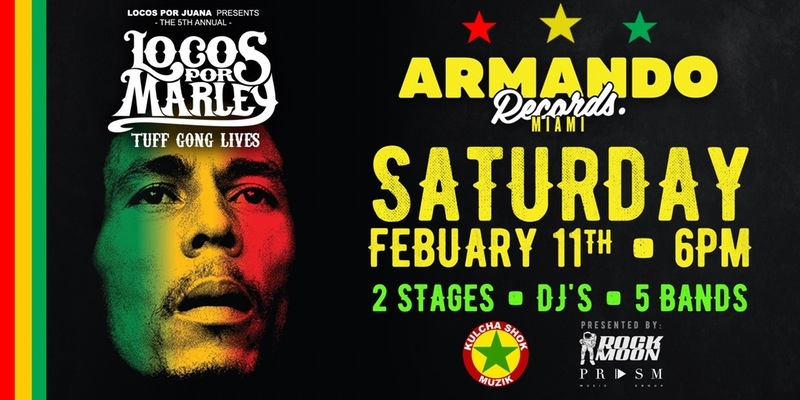 NACHO WILL PERFORM AT THE 5TH ANNUAL LOCOS POR MARLEY TRIBUTE concert paying tribute to the legend Mr Bob Marley.
