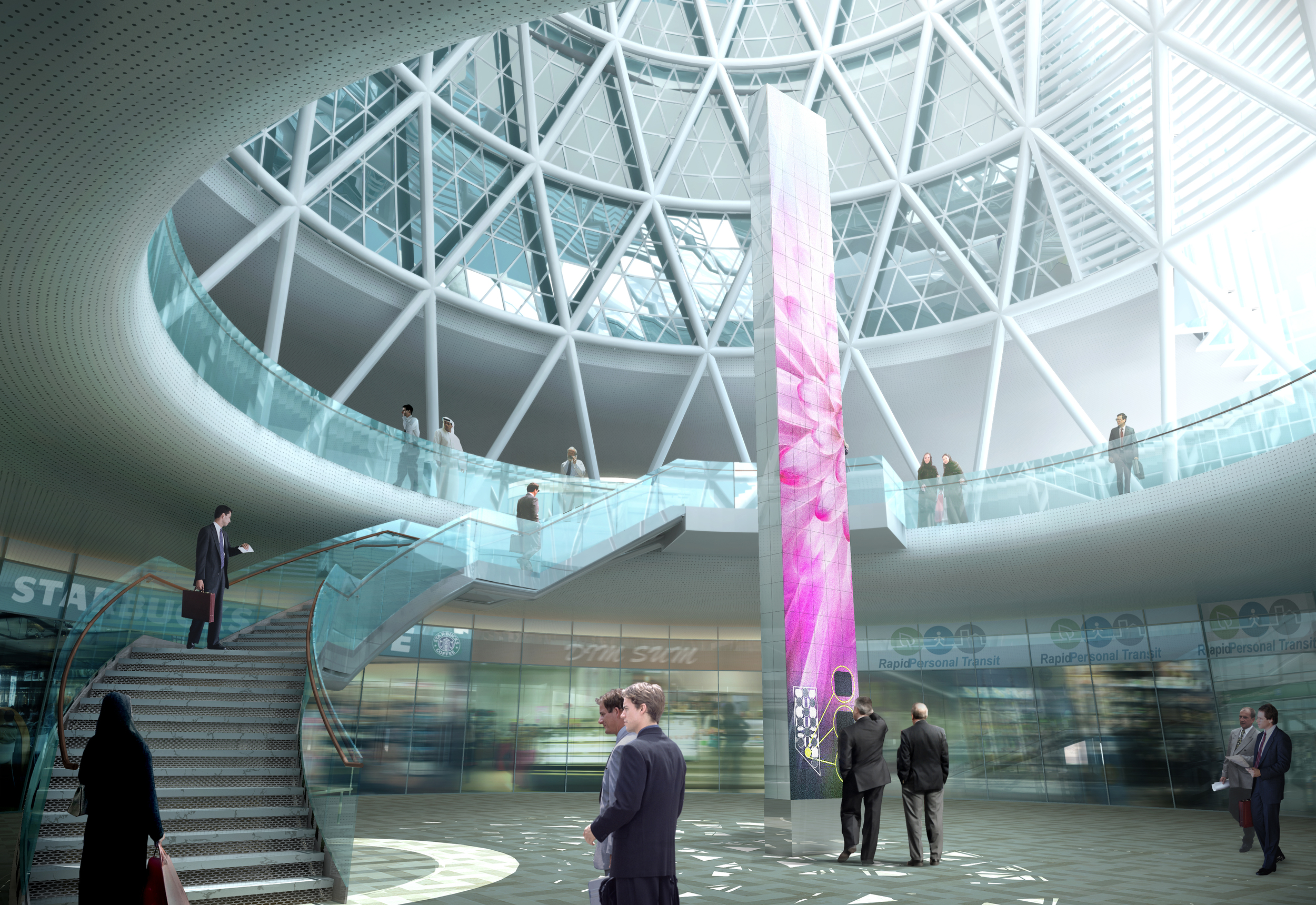 Rendering of Masdar Headquarters with digital signage
