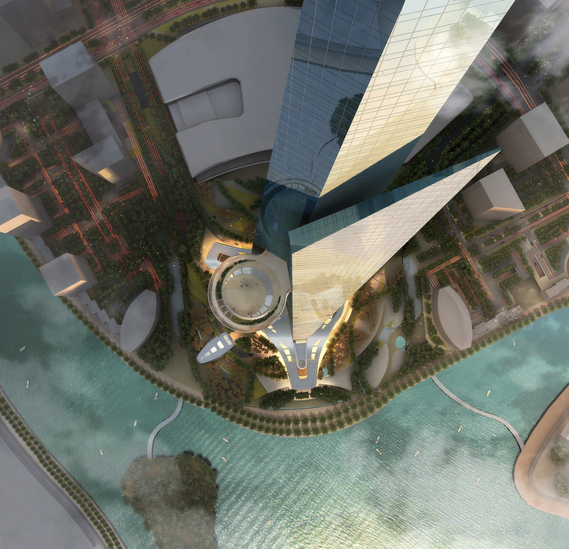 Rendering of Jeddah Tower. Kingdom Tower