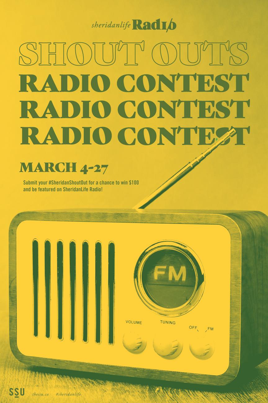 Sheridan Shoutouts Radio Contest — Sheridan Student Union