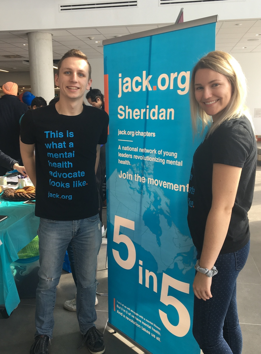 Jack.org Sheridan at Clubs Fair in HMC