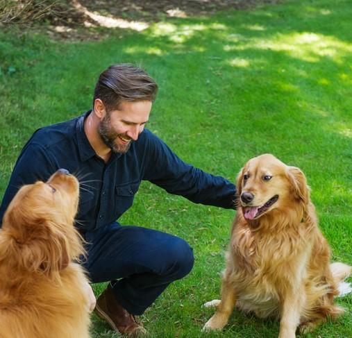 Evan and puppies.jpg