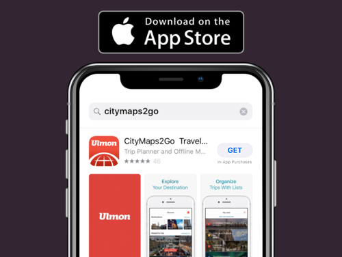 Step 1: Download   Download the free CityMaps2Go app from the   App Store   .