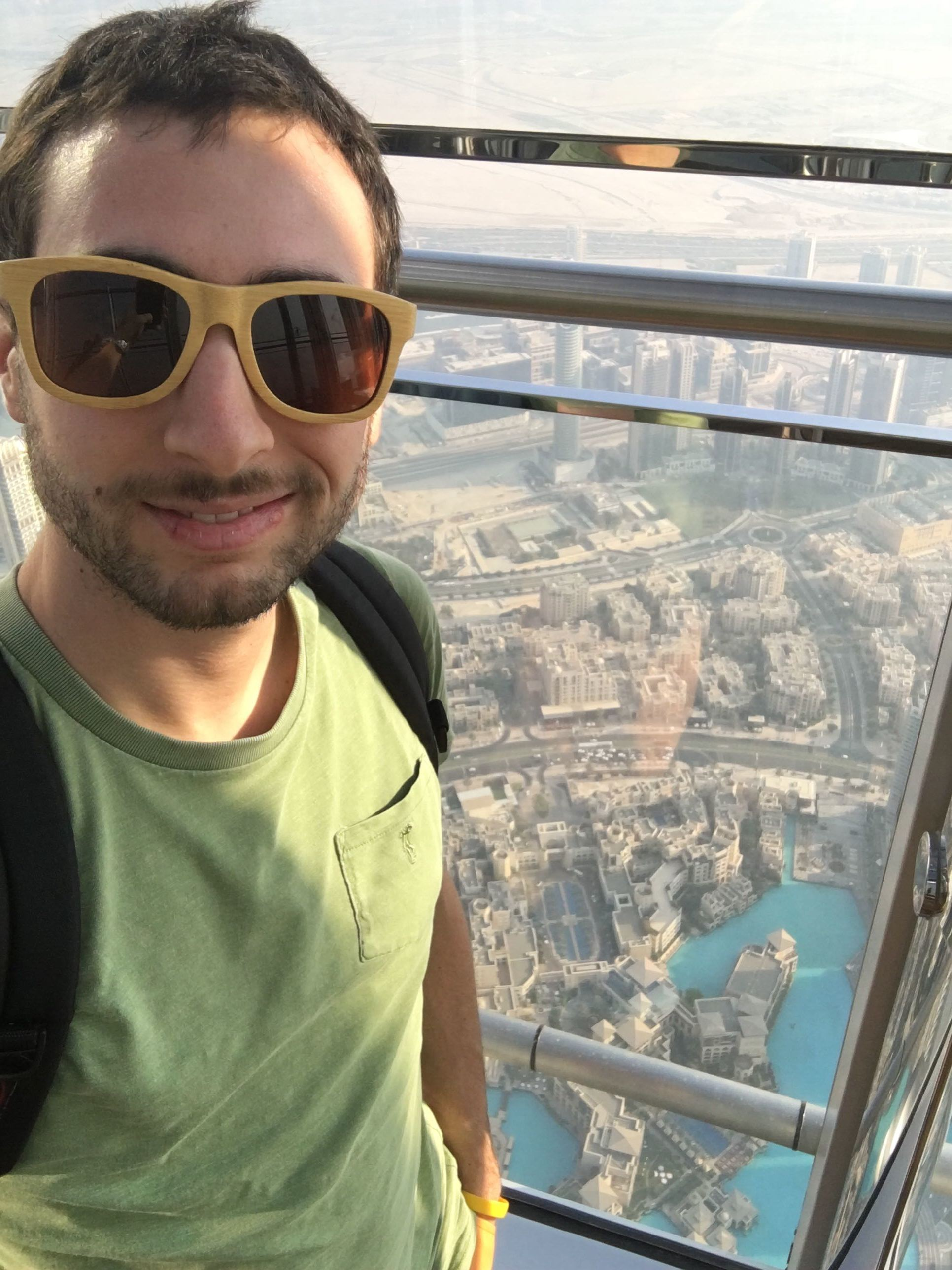 The observation deck on 124th floor of the Burj Khalifa.