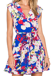 Yumi Kim Blue Floral Fit and Flare Dress