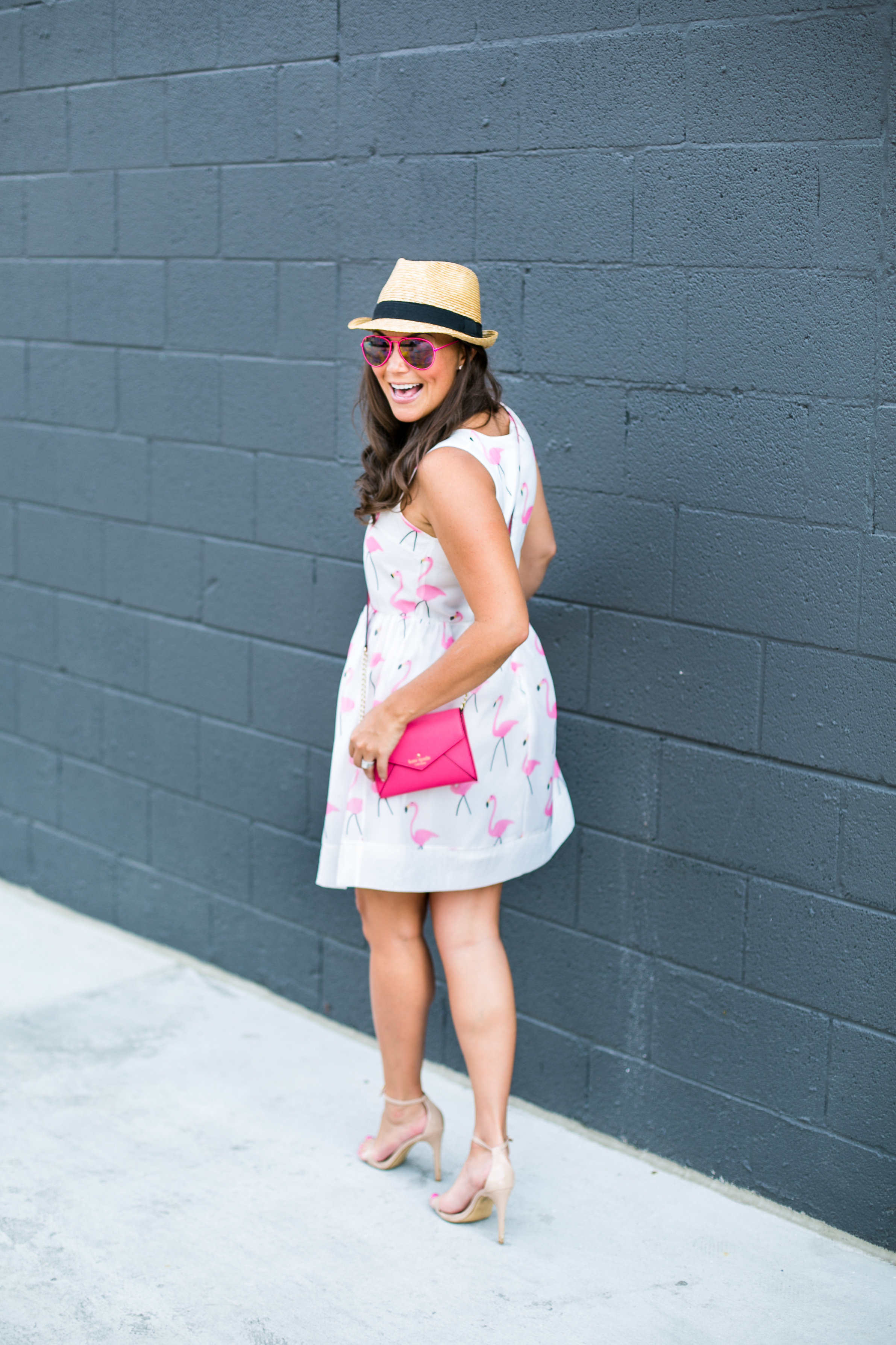 Choies   Dress    similar  here  and  here  //  Kate Spade Purse  //  Steve Madden Pumps  // Panama Hat (old) similar  here   here  and  here  // Sunnies (from  Gracie's ) similar  here  and  here