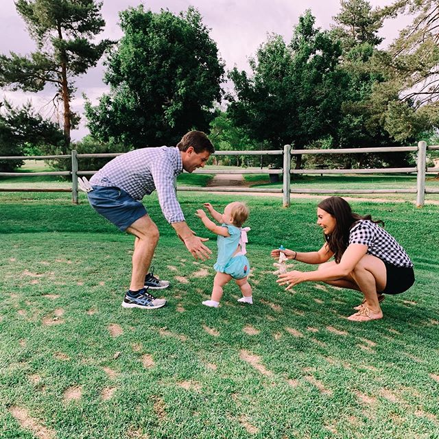 Just in time for Father's Day at @denver.dude's very favorite place! Thanks for capturing @melissa.smeltzer 💕 #firststeps #oneisfun #happyfathersday