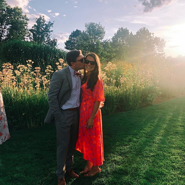 That CO 🌞 - what a beautiful evening celebrating the wonderful couple... the storm even stopped just in time! #colesandtommy