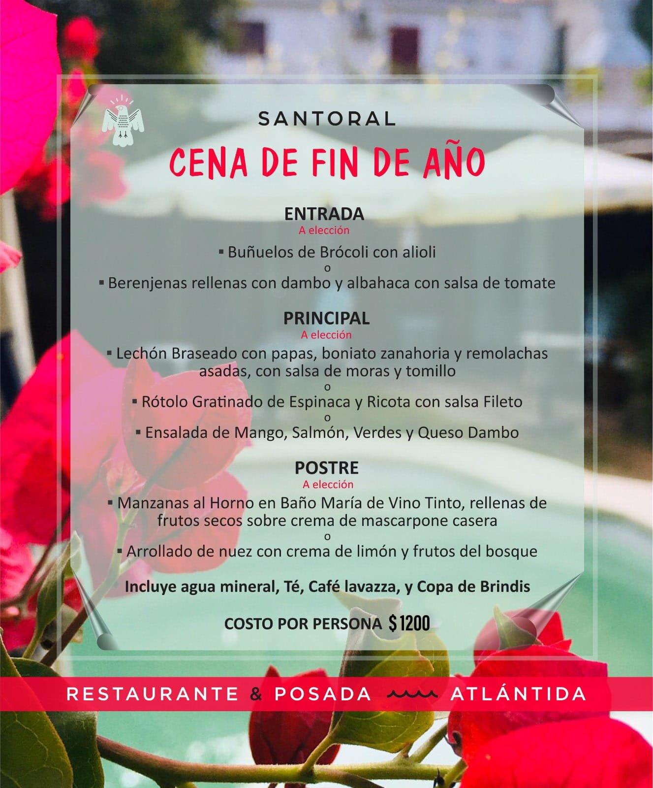 Menú Cena De Fin De Año 2019 2020 Santoral