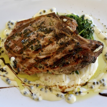 Grilled Pork Chop with a Peppercorn Reduction             Pair with Nº 78 Cabernet Sauvignon