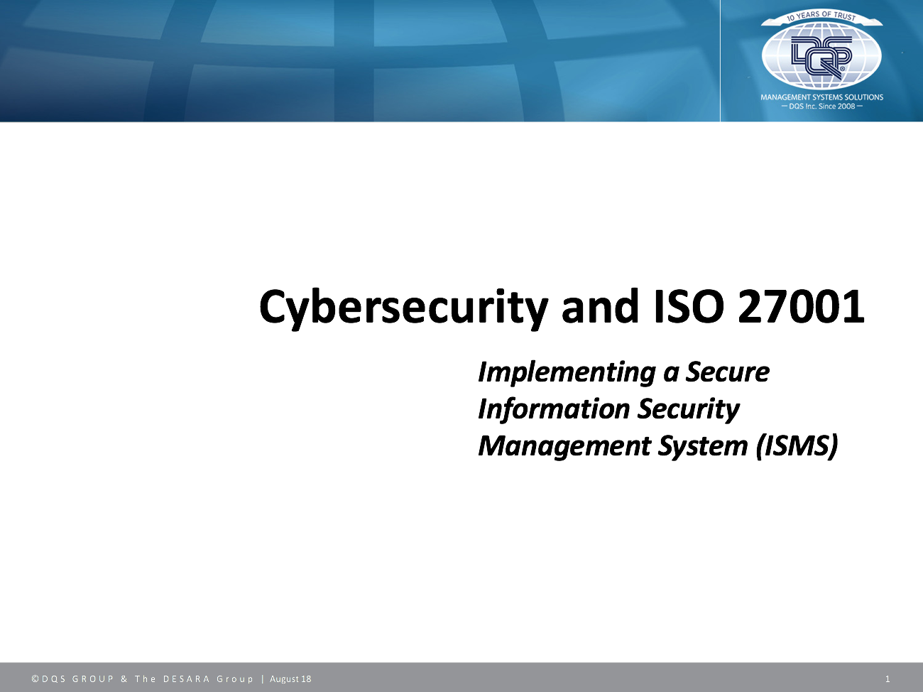 Cybersecurity and ISO 27001: Implementing a Secure Information Security Management System (ISMS)