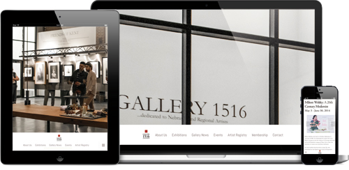 A mobile responsive website design that is smart and modern. Visit site:  www.Gallery1516.org