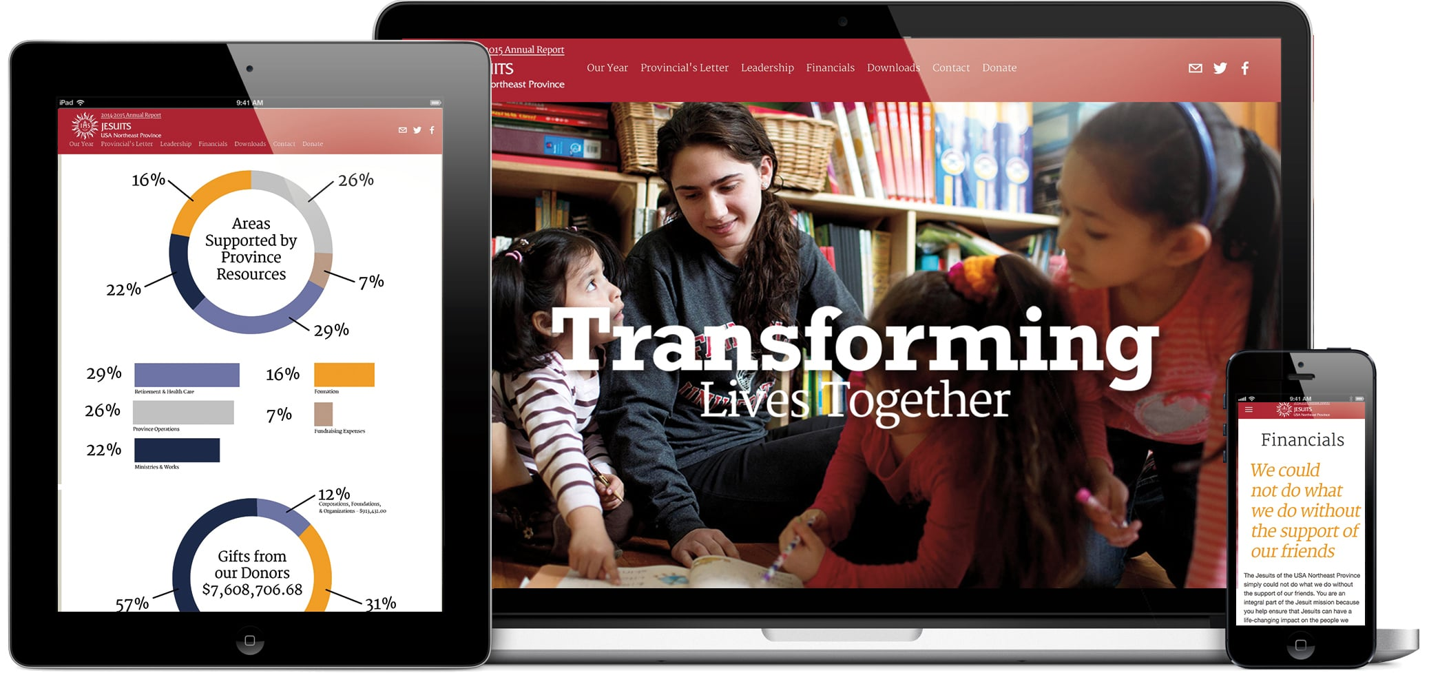 A mobile responsive website design that is smart and modern. Visit site:  http://www.jesuitstransforminglives.org