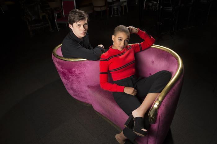 Amandla in Fendi with 'Everything, Everything' co-star Nick Robinson for LA Times (Allen J. Schaben / Los Angeles Times)