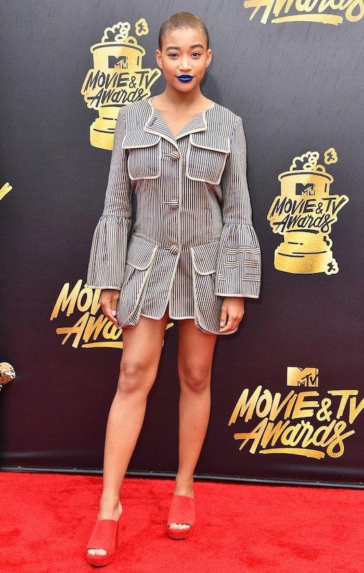 Amandla at the 2017 MTV Movie Awards in Fendi
