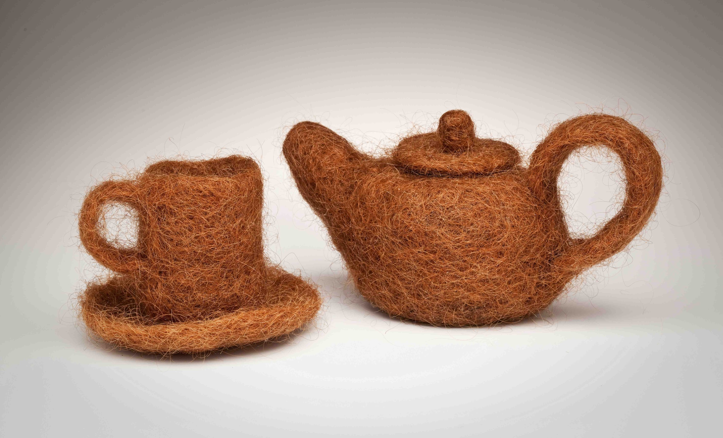 Hair Teapot and Cup