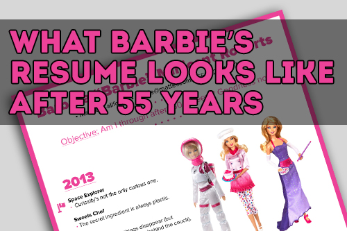 150+ careers on a very pink résumé. Way too many jokes about her fearing kilns.