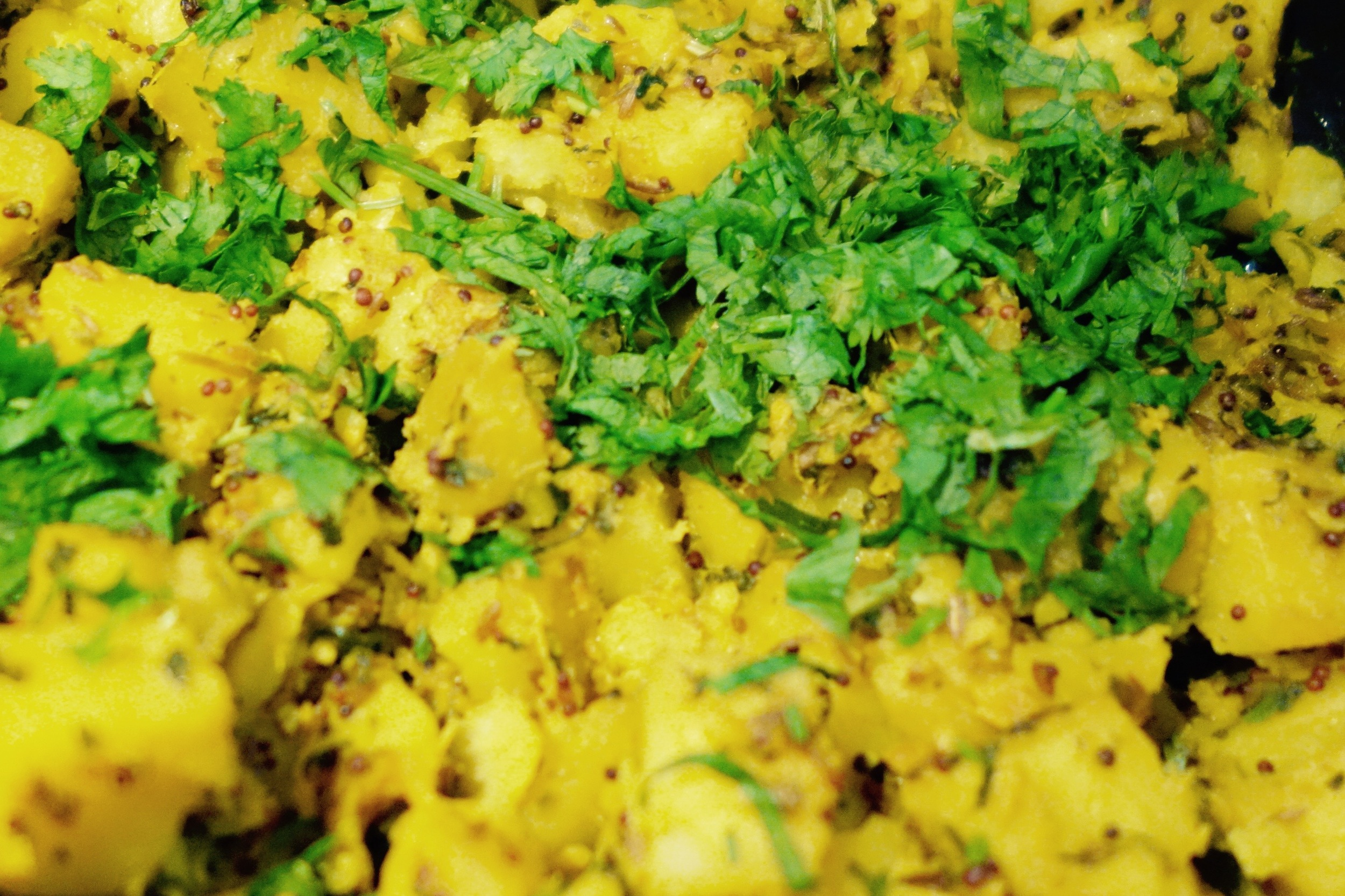 A light Gujarati potato curry