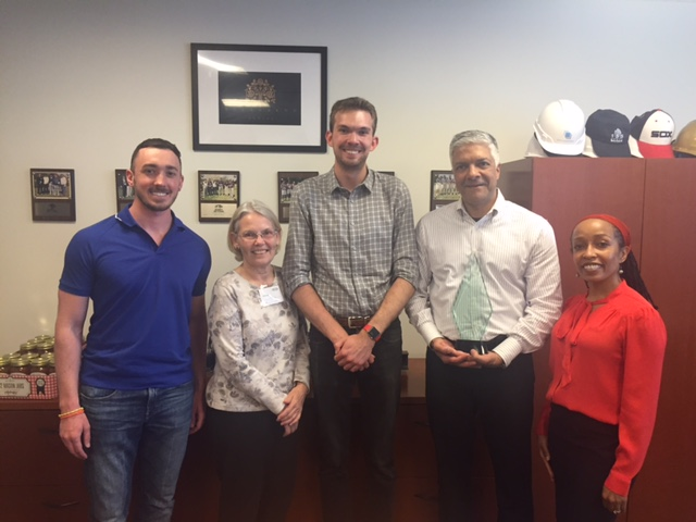 From Left to Right: Corey LiDonne (Electrical Engineer, ESD), Patricia Rivera (Executive Director, Chicago HOPES for Kids), Danny Craig (Development Coordinator, Chicago HOPES for Kids), Raj Gupta (CEO, ESD), Asali Locke-Ellison (Senior Associate, ESD)