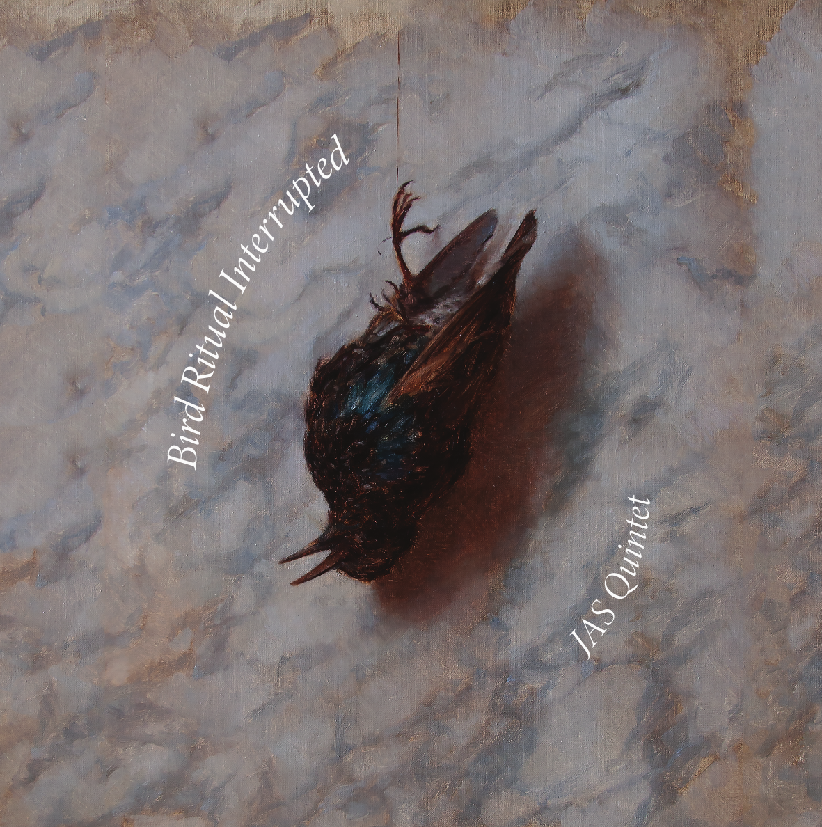 """JAS Quintet """"Bird Ritual Interrupted"""" cover artwork by  Anna Youngers  and design by Connor Burtis"""